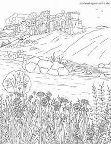 malvorlage erwachsene landschaft ausmalbilder