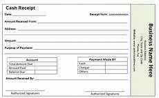 cash receipt template free receipt template receipt template invoice template word