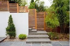 Sichtschutz Garten Selber Bauen Lattenzaun Betonmauer