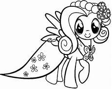 My Pony Malvorlagen My Pony Fluttershy Wear Dresses My Pony