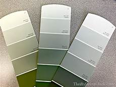 paint colors green grey softened green in the bedroom from thrifty decor