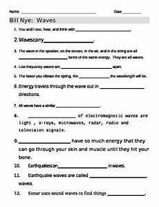 physical science basics waves worksheet 13215 bill nye waves worksheet 6th grade science 4th grade science elementary science