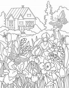 coloring page the secret garden royalty free illustration