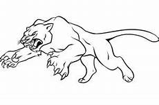 how to draw a panther step by step rainforest animals