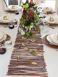 make a rustic twig table runner hgtv
