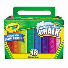 Amazon Com Washable Sidewalk Chalk 48 Assorted Bright Cyo512048 Crayola Washable Sidewalk Chalk Zuma