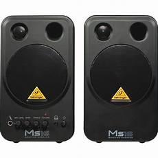 behringer ms16 powered studio monitor speakers belfield