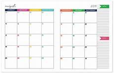 2019 2020 monthly calendar planner free printable calendar download