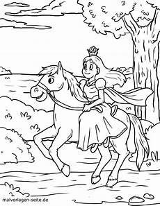 malvorlage prinzessin auf pferd kostenlose ausmalbilder