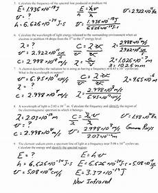 physical science wavelength worksheet 13213 heritage high school chemistry 2010 11