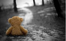 teddy bears selective coloring depth of field gloomy