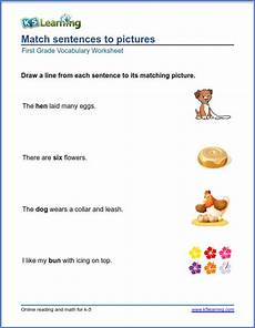 first grade vocabulary worksheets printable and organized by subject k5 learning