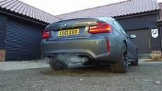 bmw m2 m performance exhaust standard m performance youtube