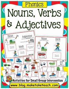 nouns verb and adjectives make take teach