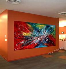 Abstrakte Kunst Auf Leinwand - modern abstract painting colorful acrylic on canvas by