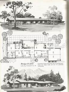sprawling ranch house plans mid century sprawling ranch vintage house plans ranch