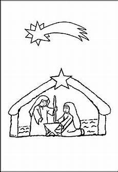 Ausmalbilder Kostenlos Weihnachten Krippe Ausmalbild Weihnachtskrippe Malvorlage Krippe Zum