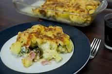 Rosenkohlauflauf Mit Kartoffeln - rosenkohlauflauf mit kartoffeln schinken ingwer kick