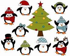 penguins digital clip tree clipart