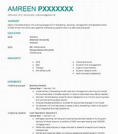 business analyst resume objectives resume sle livecareer
