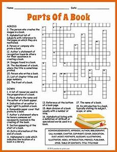 printable worksheets parts 18216 parts of a book crossword worksheet by puzzles to print tpt