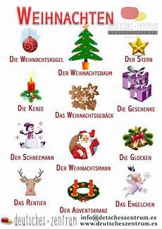 weihnachten vocabulario wortschatz german grammar
