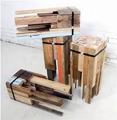 Recycling Hocker Holzreste M 246 Bel Holz Und Barhocker Holz