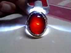 cincin batu akik yaman hitam asli isi merah pekat youtube