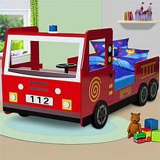 lit pompier but lit enfant design camion pompier avec sommier achat