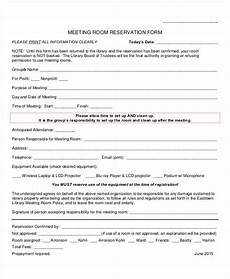 free 31 reservation forms in pdf