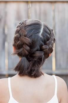 Einfache Frisuren Für Schulterlange Haare - schulterlange haare flechten 15 kinderleichte