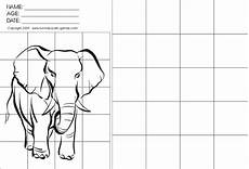 grid drawing worksheets drawing with grids activity walking elephant by fun free party games