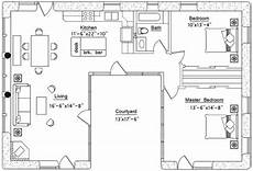 u shaped house plans single level u shaped house 655 sf plans casas con patio interior