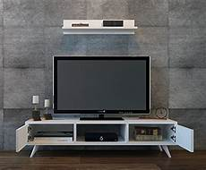 porta tv a muro con mensola aspen set soggiorno bianco parete attrezzata mobile