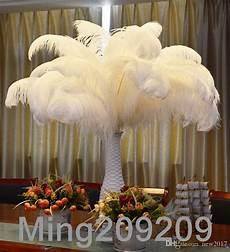 wholesale 6 26 inch ostrich feather plume white wedding centerpieces table centerpiece decor