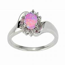 925 sterling silver synthetic pink opal s engagement