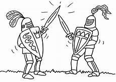 Ausmalbilder Drachen Ritter Kostenlos Ausmalbild Ritter Zwei Ritter Beim Schwertkf Kostenlos