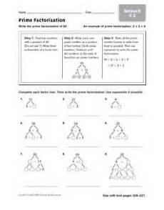 prime factorization reteach 9 2 4th 6th grade worksheet lesson planet