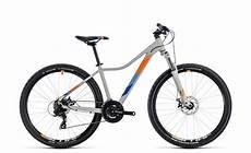 fahrrad damen mountainbike cube access 27 5 29 damen mtb fahrrad grau orange