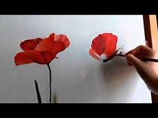 come dipingere fiori deart papaveri poppies paintings dipingere