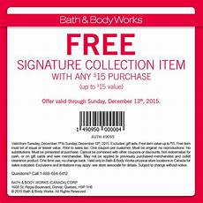 Collection In Store Coupons by Bath Works Canada Coupon Free Signature Item With