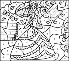 color by number princess coloring pages 18139 coloring pages princess in garden printable color by number page color by number princess