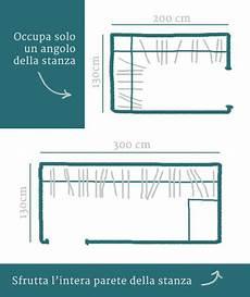cabina armadio dimensioni minime dori design una da letto perfetta 2