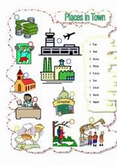 esl worksheets places in town 16001 worksheets in worksheets page 115