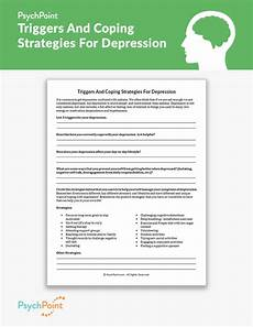 triggers and coping strategies for depression worksheet