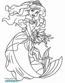the mermaid coloring pages 3 disneyclips