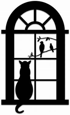 cat in the window tier silhouette katzen quilt und