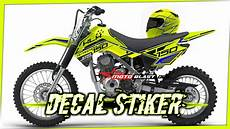 Striping Klx 150 Modifikasi by Kumpulan Modifikasi Decal Stiker Klx 150