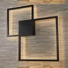 modern minimalist black square led wall sconce metal