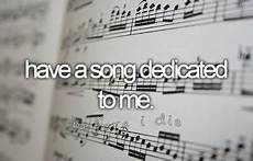 Songs Dedicated To